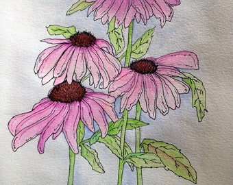 Pink Flowers (prints only - original sold)