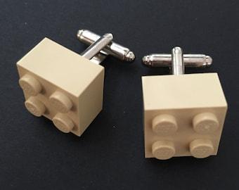Lego cuff links - Beige