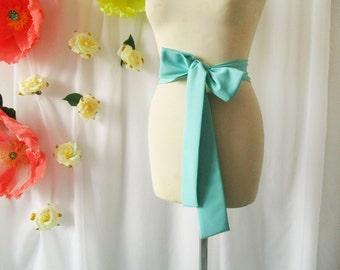 Mint sash, bridesmaid sash, chiffon sash, turqoise, long sash, wide sash, dress sashes, bridesmaid sashes, party sash, dress sash