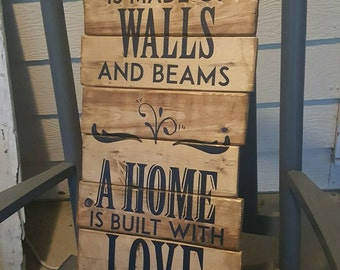 A House Pallet Sign