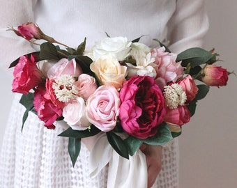 Vera Botanic Garden Bouquet   Wedding Bouquet, Silk Flower Bouquet, Rose  And Peony Bouquet