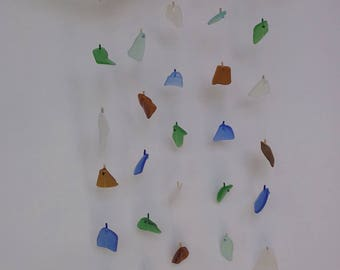 Sea Glass Windchime Mobile Multicolored
