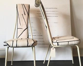 Custom reupholstered vintage chairs