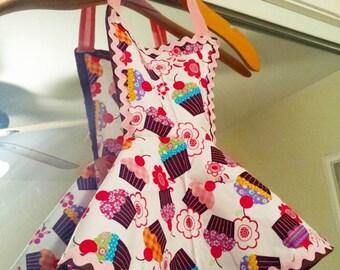 Toddler Apron, 2T size apron, kids apron,