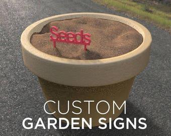 Custom Garden Signs