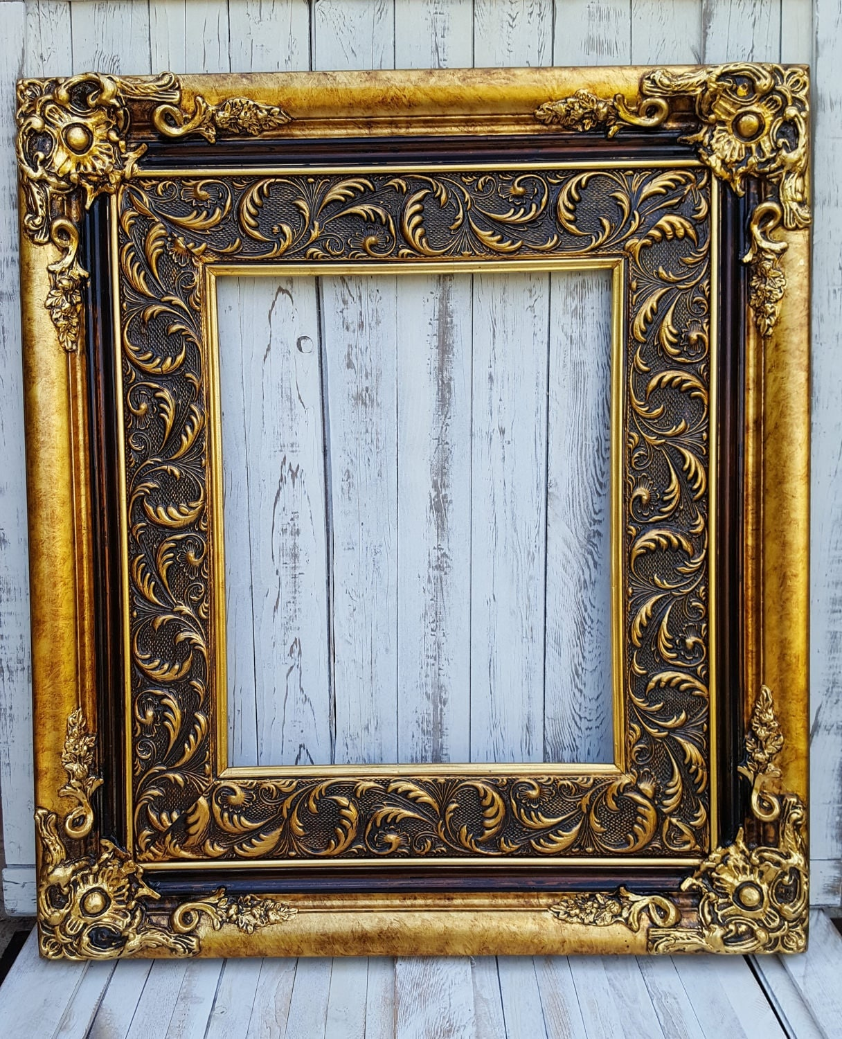 baroque style frame antique gold wedding frame colonial decor french decor frames shabby. Black Bedroom Furniture Sets. Home Design Ideas