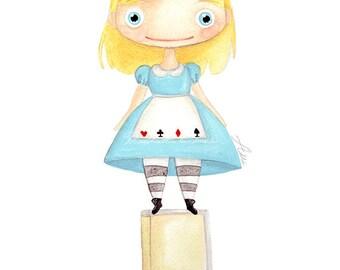 Alice digital printing, digital illustration, children's press, custom printing, print, illustration princesses.