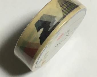 Japanese Masking Tape - Mt. Fuji Design Tape - Masking Tape - Decorative Tape - Gift Wrapping Tape - Scrapbooking Tape - Japanese Tape