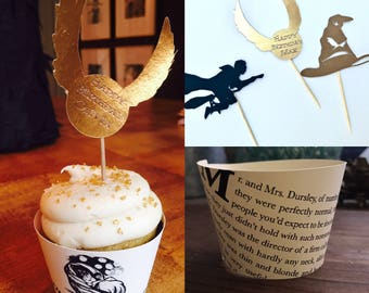 Harry Potter Cupcake Toppers and Wrappers