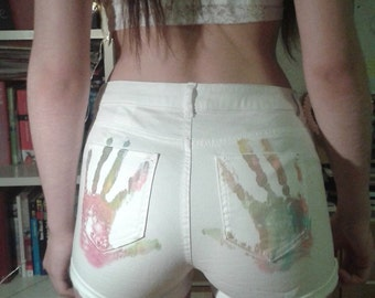 Hotpants with Handprint