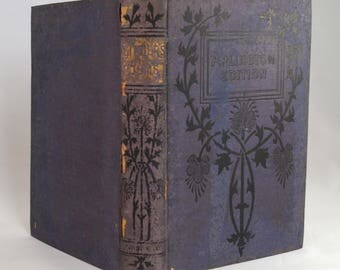 Antique Poems by John Greenleaf Whittier - 1890 - Arlington Edition - Vintage Poetry Book