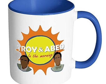 Community Mug| Troy and Abed in the Morning Mug |Donald Glover mug| 30 Rock mug| Troy and Abed in the morning