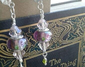 Rosy Romance Earrings: European Beads and Czech Crystal Earrings