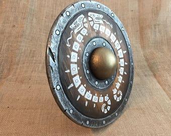 Zelda Breath of the Wild inspired wooden shield (buckler)