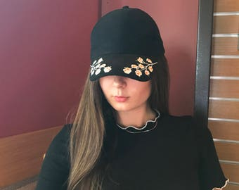 Flower Embroidered Hat
