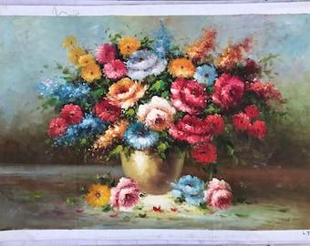 "24""*36"", Oil painting, Canvas Art, Original Art, Modern Art, Flowers, Wall Decor, Landscape Painting, original oil painting, handcraft"