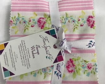 """Zoey's Garden by Tanya Whelan for Free Spirit Fabrics 5"""" Charm Pack"""