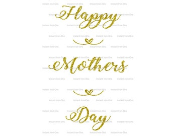 Happy Mothers Day, Mum, Mom, Personalised, Printable Iron On Transfer, Decal, JPEG, Digital, Sparkle, Glitter, T shirt