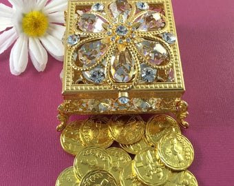 Arras de Boda  Gold Wedding Arras Box & Unity Coins