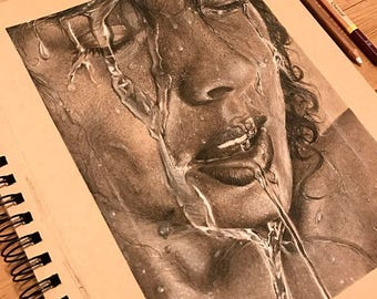 Charcoal Drawing: WaterGirl