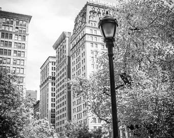 "Digital Art Printable file 300dpi 24x36 and 8x12 Image of Union square park streetlight "" Union Square Streetlight"