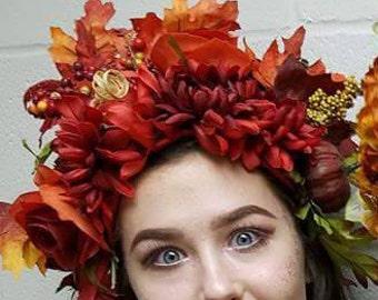 Red fairy headpiece, renaissance festival, cosplay, wedding, halloween costume