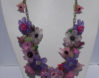 Pink & Purple Lucite Necklace