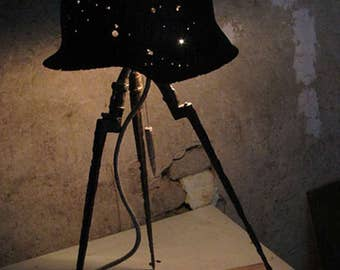 an oryginal m43 helmet table lamp