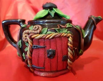 Woodland Brown Teapot Fairy House
