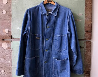 1970's Medium Oshkosh Denim Chore Coat