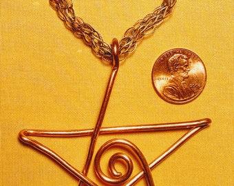 Copper Wire Star Ornament