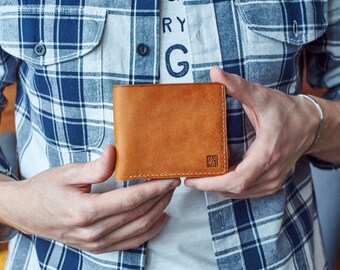 Wallet made of brown leather