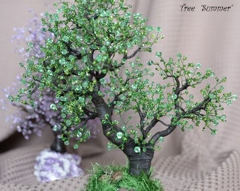 Tree from beads «Summer»