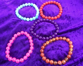 Quartzite stretchy bracelets
