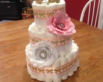 Pretty Baby Girl Diaper Cake