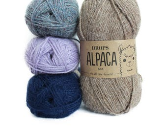 Alpaca yarn, Sock yarn, Knitting wool, Natural fiber yarn, Alpaca wool yarn, Alpaca fiber, Drops Alpaca, Sport weight yarn, Superfine alpaca