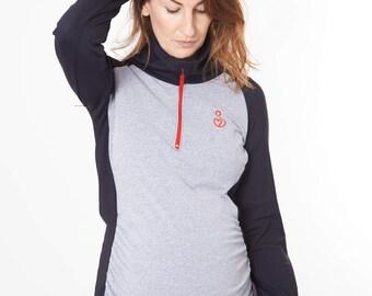 SPORTEE MOMMEE Maternity Sportswear Long Sleeved Top