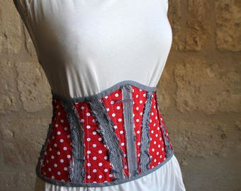 Small reversible corset belt