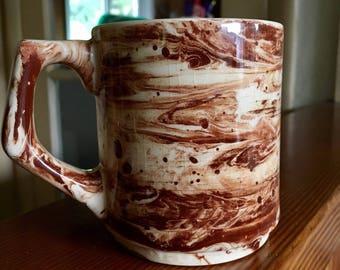 Rare vintage sitka clay marbled mug