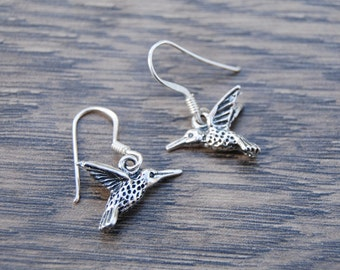 Sterling Silver Humming Bird Charm Earrings Charms DB1M