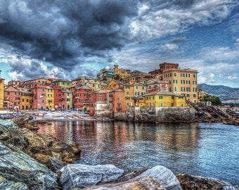 Boccadasse, Genoa. Artistic photography