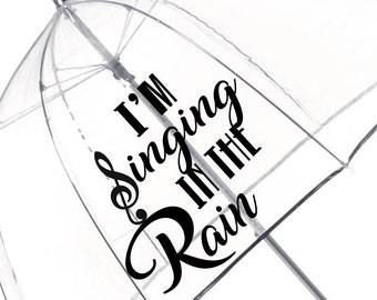 Singing in the Rain Umbrella
