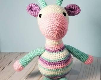 Crochet Baby Giraffe - Stuffed Animal Amigurumi Toy - Boy or Girl - Baby Shower Gift - Nursery Decor - Made to Order