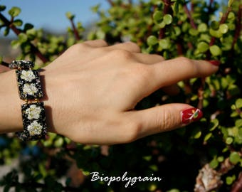 Stretch Bracelet with flowers
