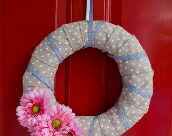 Pink Gerber Daisy Wreath