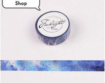Galaxy Washi Tape - Japanese, Japan, Paper Tape, Dream, Sky, Night, Blue