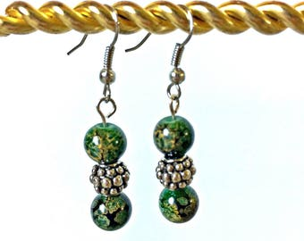 Dark Green Forest Earrings