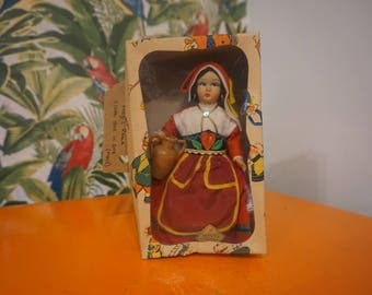 Vintage Magis Roma cloth doll in box