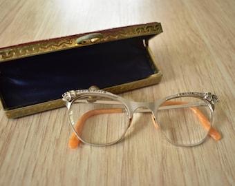 Rhinestone Cateye Eyeglasses