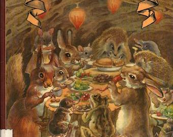 The Hedgehog Feast - Edith Holden - Rowena Stott - 1978 - Vintage Kids Book